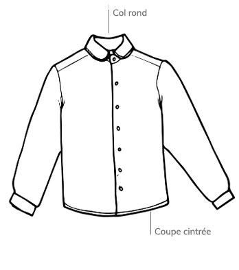 Croquis chemise Lincomparable